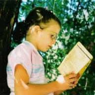 Little Lizzie Reading in Tree
