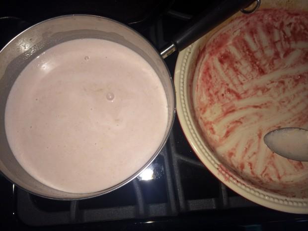 add fruit to cream