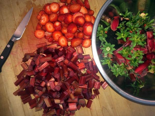 chop fruit