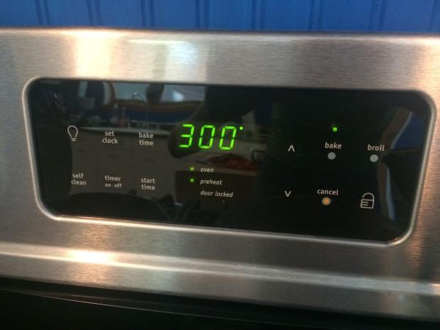 set oven temp