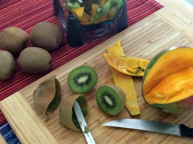 Mango Kiwi Sorbet Prep